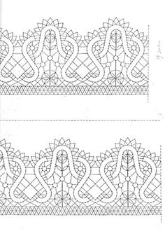 bolillo patrones - maravillada - Álbumes web de Picasa Bobbin Lace Patterns, Lacemaking, Needle Lace, Projects To Try, Weaving, Romantic, Stitch, Fabric, How To Make
