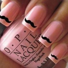 Mustache on Pink