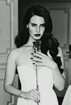 Stunning wedding hair & makeup, Lana Del Rey. Favorite pic of her.