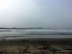 Another foggy afternoon at the beach & OB Pier was closed due to high waves. Definitely winter in San Diego.