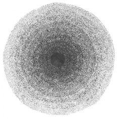 Sebra - Vloerkleed gehaakt - zwart/wit - doorsnede 120cm