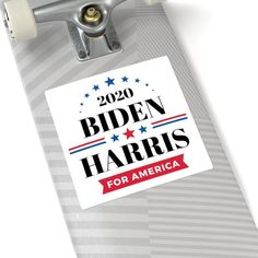 You cannot go wrong with a classic square-style sticker. The clean, crisp edges and simple-but-elegant look make this the most straightforward and popular option..: For indoor or outdoor use.: Four sizes to choose from.: Grey adhesive left side for white stickers Larry David, My Philosophy, Kamala Harris, Joe Biden, Adhesive, Campaign, Crisp, Stickers, Indoor