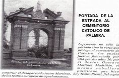 Portada de la entrada al cementerio católico de Palmira.Todos los derechos reservados por Academia de Historia de Palmira