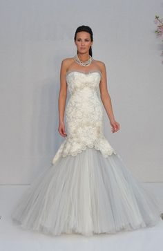 15845af1dc7 Sweetheart mermaid gown in alencon lace draped over with beaded tulle avail  dove grey ivory silk white