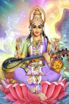 Goddess Of Knowledge Saraswati Lord Saraswati, Saraswati Goddess, Durga Maa, Lord Shiva, Indian Gods, Indian Art, Lord Murugan Wallpapers, Ganesha Art, Divine Mother