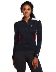 Pearl Izumi Womens Superstar Thermal Jersey Black True Red Medium *** Click image to review more details.Note:It is affiliate link to Amazon.