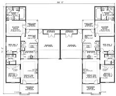 Plan 59328ND: Roomy Duplex