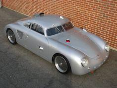 1955-porsche-356-silver-bullet.Classic Car Art&Design @classic_car_art #ClassicCarArtDesign