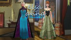 My Sims 4 Blog: Anna and Elsa Coronation Dresses by Plumbots09