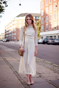 Agnete Hegelund wears a reworked 30s wedding dress. by altamiranyc - models off duty street style