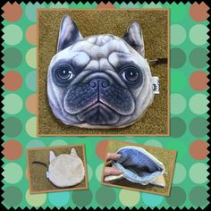 Cute dog face zipper coins purse Cute dog face wallet zipper pouch coin makeup bag easy to carry basic light brown color made by PVC cloth backside is flannel very cute brand new tag on bag  4 available Bags Wallets