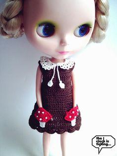 Cute Blythe mushroom dress