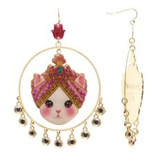Boucles d'oreilles chat hindou Manoush