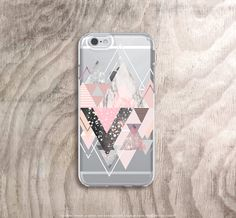 iPhone 6s Case Transparent Marble iPhone 6S Case Clear Rubber iPhone 6 Case Rose…