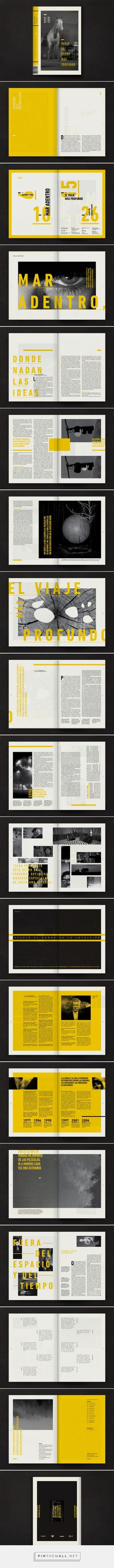 Editorial / David Lynch by Juan Pablo Dellacha Editorial Design Layouts, Magazine Layout Design, Book Design Layout, Print Layout, Magazine Layouts, Brochure Indesign, Template Brochure, Design Brochure, Booklet Design