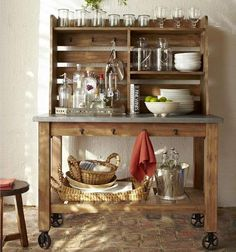 small home bar designs and portable bars// anyone know where I can find this piece?!