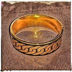 "SALE! kate spade Putting on the Ritz Bangle Limited time Price drop! Black gold chain magnetic hinged oval wide bangle by kate spade. NWOT. Includes dustbag. Idiom bangle and has a trompe l'oeil chain against a black background. Engraved on the inside with ""kate spade NEW YORK and ""PUTTING ON THE RITZ."" Interior diameter measures ~ 2 1/4th x 2 1/8th inches and about 3/4th inch wide. Perfect for small to medium wrist. I'm a large & it is too small. Bought from another posher! kate spade…"