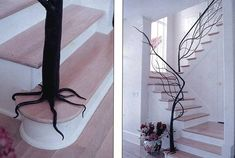 Tree Railing - My Modern Metropolis  probable source: http://www.laboratoriofaba.com/