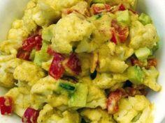 Salata orientala raw vegana din conopida
