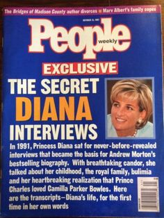 1997 Diana on Diana From Secret Interviews with the Late Princess, Biographer Andrew Morton Paints a Frank Picture of Diana's Lonely and Turbulent Life Princess Diana Family, Princes Diana, Princess Of Wales, Charles And Diana, Prince Charles, Jessica Capshaw, Camilla Parker Bowles, Bad Life, Journaling