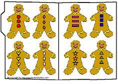 Preschool Printables :  Gingerbread Buttons