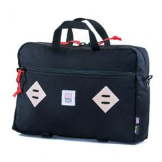 Mountain Briefcase in black by Topo Designs - $149