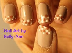 Nail Art by Kelly-Ann: Nude Dots