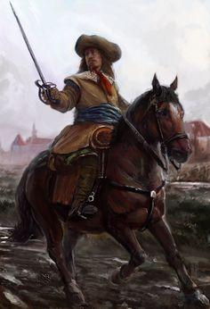 Mercenario alemán durante la Guerra de los Treinta Años, cortesía de Michell Nolte. http://www.elgrancapitan.org/foro/viewtopic.php?f=21&t=16835&p=890620#p890310