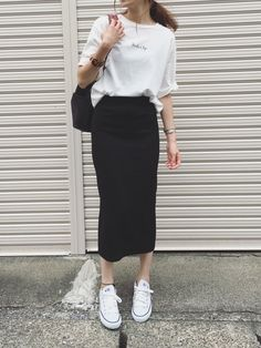 Ladylike like tight skirt coordination 20 selections - Unmanned! Ladylike like tight skirt coordination 20 selections - Long Skirt Outfits, Summer Outfits, Skirt Ootd, Spring Fashion Outfits, Korean Outfits, Mode Outfits, Cute Casual Outfits, Stylish Outfits, Casual Jeans