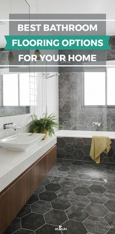 271 great bathroom flooring images in 2019 bathtub home decor rh pinterest com