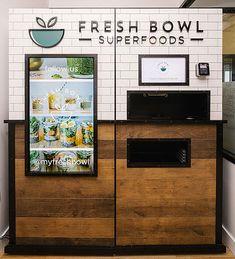 Healthy Vending Machines, Vending Machines In Japan, Coffee Vending Machines, Coffee Cafe, Coffee Shop, Vending Machine Business, Fresh Bowl, Japan Store, Snacks Saludables