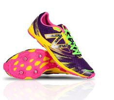d38dfbcdac826 Women s New Balance (B Medium) Purple Yellw Pink Grn Spike Running Shoe