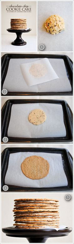 DIY Chocolate Chip Cookie Cake  |  TheCakeBlog.com    Kari and Em need to make this the next time they have the urge to bake.
