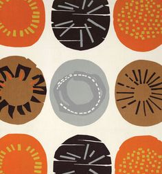 Lucienne Day Cloc~ Apollo ~ Fabric design from the Brown-Wiltse collection for British Textiles ~ Screenprint on cotton ~ 1964 Design Textile, Textile Prints, Textile Patterns, Textile Art, Fabric Design, Print Patterns, Block Patterns, Lucienne Day, Robin Day