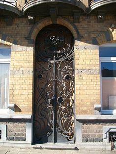 Art Nouveau door in Belgium