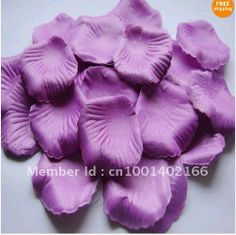1000Pcs Purple Rose Petals Wedding Decoration Flowers favors size: 4cm x 4cm