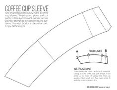 365 Designs: new McCafé single brew coffee with printable cup sleeve template