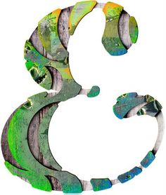 Wooden ampersand by Toko