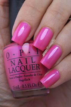 OPI - Brights Collection - Hotter Than You Pink (re-release from OPI Neon 2014 Collection) Nail Polish Designs, Nail Polish Colors, Opi Polish, Beautiful Nail Polish, Fabulous Nails, Hot Nails, Pink Nails, Polka Dot Nails, Manicure Y Pedicure