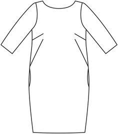Выкройка бурда прямое платье