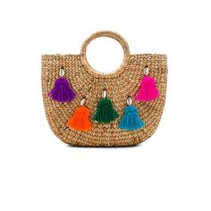 4c2e2a892d JADEtribe Mini Tassel Small Basket (265 BGN) ❤ liked on Polyvore featuring  bags