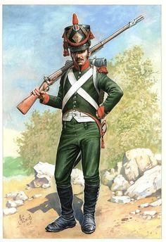 Italian Line Infantry. Italian Empire, Italian Army, French Empire, Kingdom Of Naples, Kingdom Of Italy, Military Art, Military History, Military Costumes, Military Uniforms
