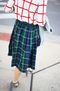 Plaids. You wouldn't think this would work but I love it.