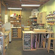 studio of Laurene Howell, Fused Glass Artist Studio Layout, Studio Setup, Studio Ideas, Studio Design, Mosaic Glass, Fused Glass, Glass Art, Blown Glass, Stained Glass Studio