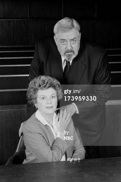 "Barbara Hale/Della Street and Raymond Burr/Perry Mason, ""Perry Mason Returns"""