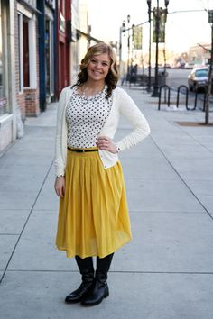Sister Missionary Clothes Blog. I need bright skirts like this