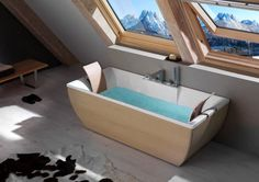 Enhance the beauty of your bathroom or feel the most relaxing experience with wooden #Freestanding_Bathtub with Thewoodenbathroom.com.