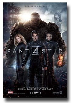 . #Fantastic4Poster #FantasticFourPoster #Fan4 available at   http://concertposter.org/fantastic-4-movie-promo-flyer-poster-four-film-2015-fire/