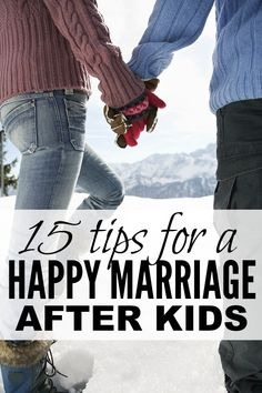 I'm in no way a marriage expert, nor do I have any good marriage advice to pass along to you, but I am a wife and a mother, and I know that life can sometimes get in the way of spending quality time with your significant other. And that's why I love this collection of tips for a happy marriage after kids. Have you ever tried # 15??!