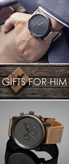Looking for the perfect gift for the man in your life? With plenty of styles to choose from all around $100 we're sure you'll find a watch that will fit his style! - watches, military, simple, ladies, black, cluse watch *ad